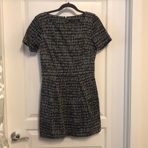 French Connection black and gray dress
